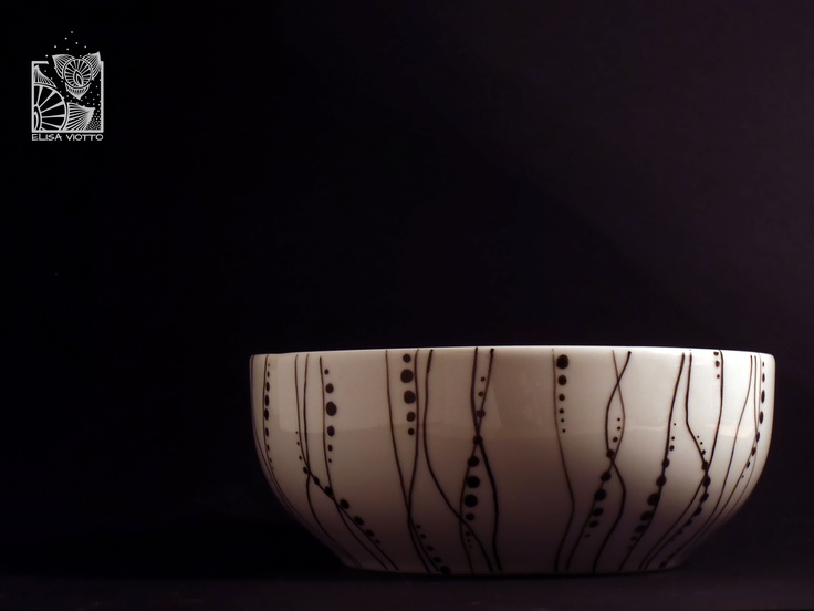 Bowl hand painted By Elisa Viotto Arte