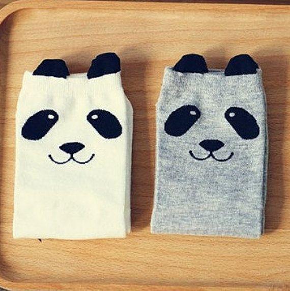 Panda socks, women's socks, kids knee high socks, baby leg warmers