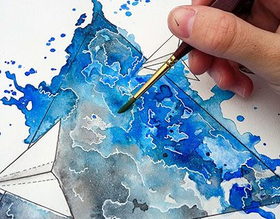 """Check out new work on my @Behance portfolio: """"Watercolor Airplane""""…"""