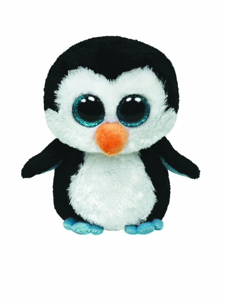 Amazon Com Ty Beanie Boos Waddles Penguin Toys