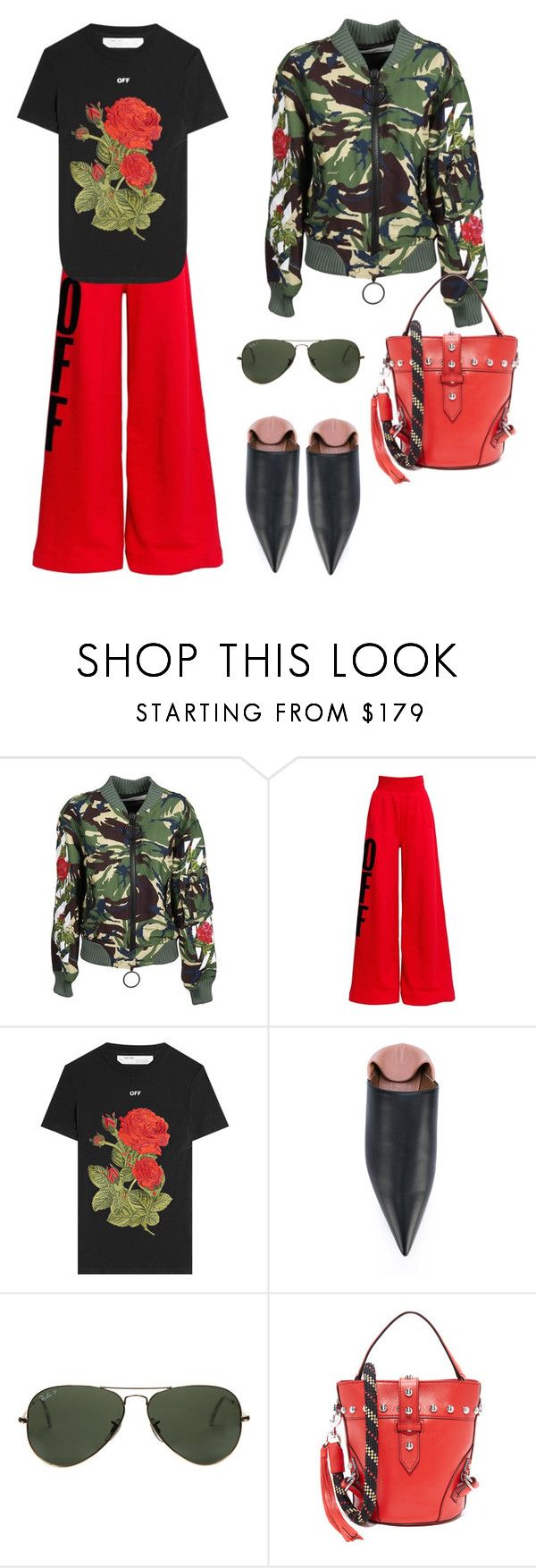 """""""Спорт-шик"""" by repriza ❤ liked on Polyvore featuring Off-White, Marni, Ray-Ban and Rebecca Minkoff"""