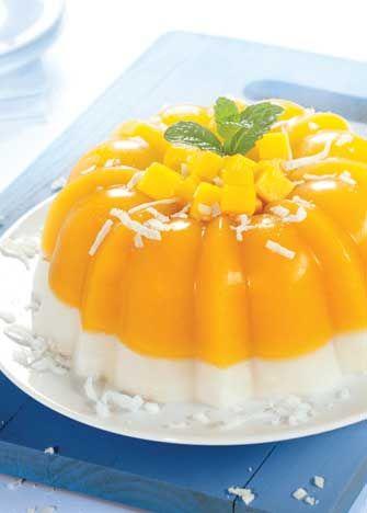 Receta de gelatina de mango y coco - Cocina Vital