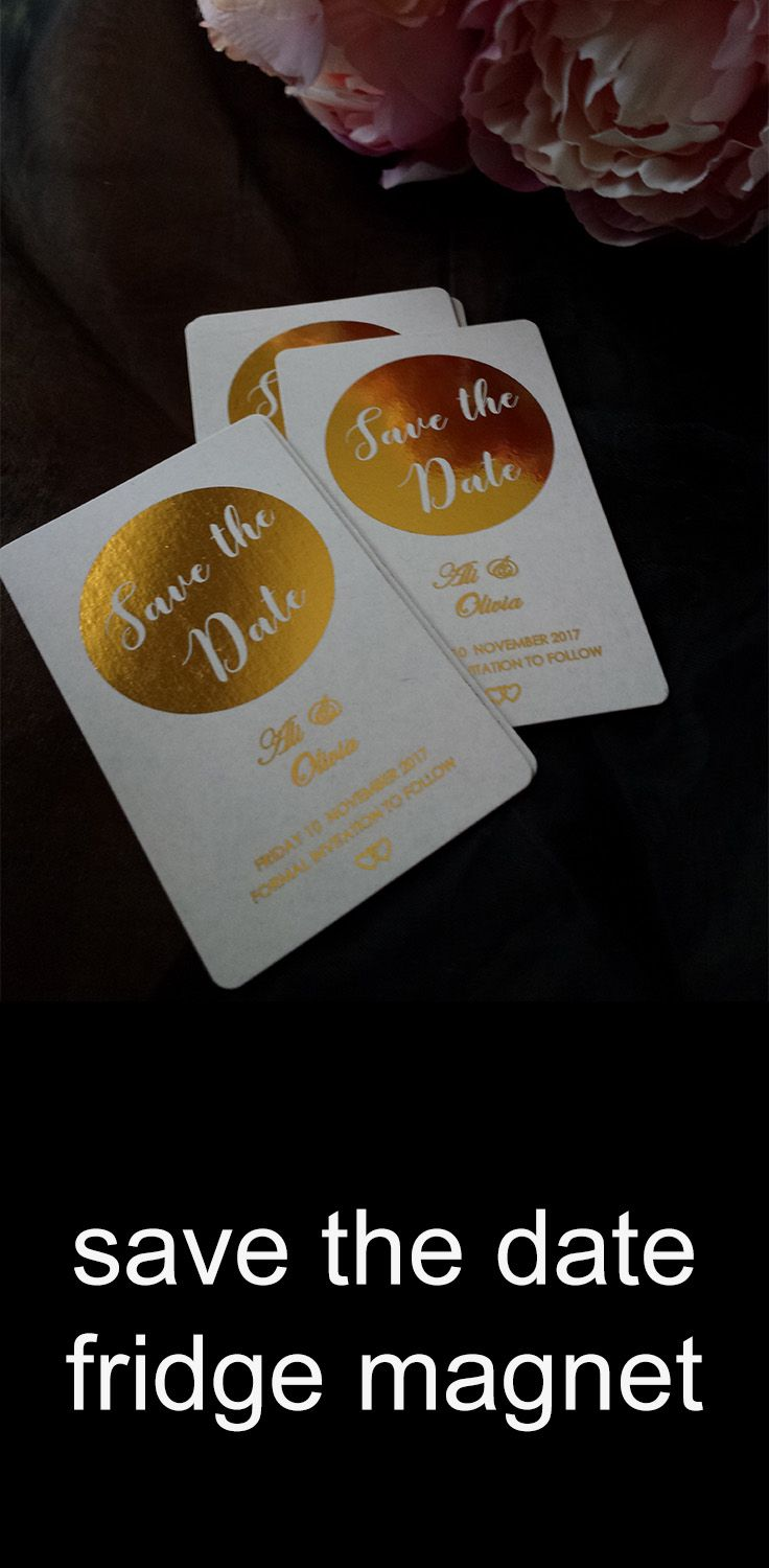 Save The Date Fridge Magnets Business Card Size Custom