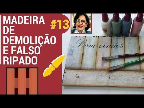 TÉCNICA MADEIRA DE DEMOLIÇÃO E FALSO RIPADO! PINTANDO COM O ❤ AULA 13 COM TÂNIA MARQUATO. Link download: http://www.getlinkyoutube.com/watch?v=Yr6WycAJeVI