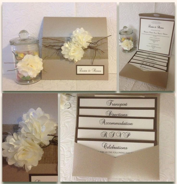 Soft flowers, earthy colours. Bespoke wedding invitation with matching bonbonniere.