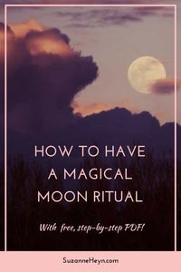 Celebrating full and new moons with magical ritual ceremonies harmonizes you with all of life, helping you to achieve your goals with greater ease. It encourages mindfulness and promotes focused self-growth. Click through to read the article and download a step-by-step guide to enjoying your own magical moon ritual on the full and new moons.