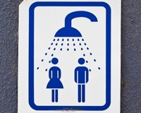 Share your shower with partner and save money.