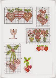 Points de croix *@* Noël Feliz Natal: Postais de Natal