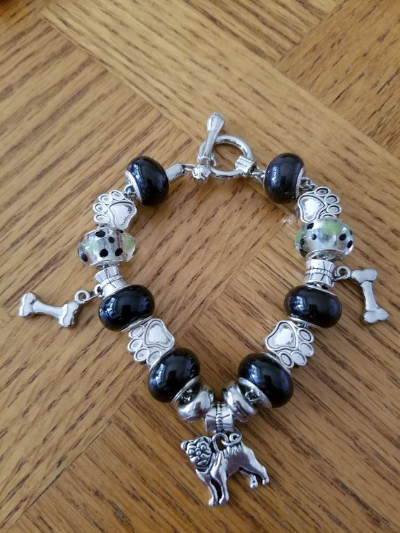 Hey, I found this really awesome Etsy listing at https://www.etsy.com/listing/479740971/pug-charm-bracelet