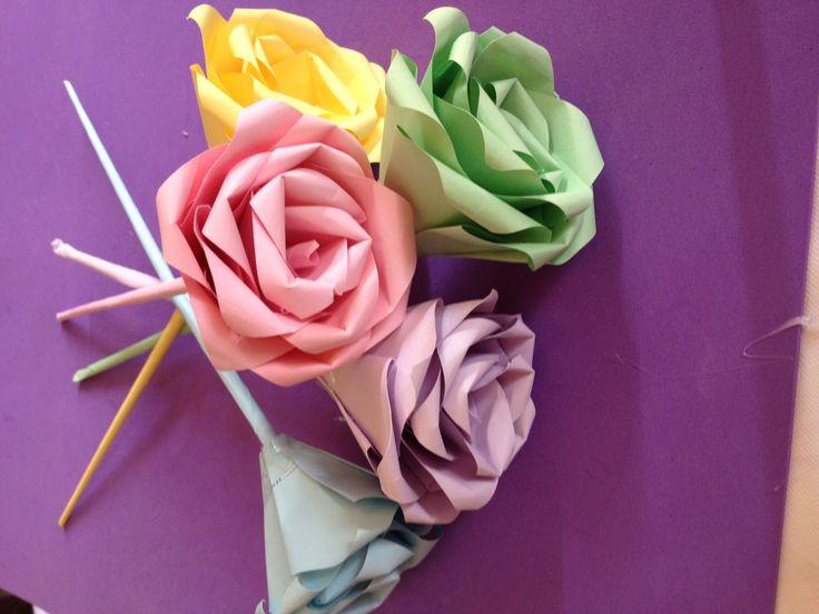 How to make rose flower for valentin | gift valentin | easy rose