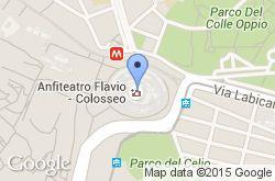 Coliseo de Roma, mapa de localización