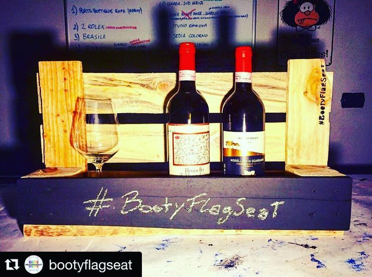 #Repost @bootyflagseat with @repostapp.  #BootyFlagSeat Mensola porta bottiglie di vino con lavagna! Wine Bottles holder with blackboard! 100% recycling we turn wood into things! Made with  #notonlychairs #amazing #design #picoftheday #photooftheday #restyling #picoftheday #photooftheday #recycle #amazing #colours #sustainabledesign #pallets #recycledartist #handcrafted #woodworking #recycledfurniture #restored #reclaimedwood #reuse #upcycle #finewoodwork #regenerate #green by kekkyb…