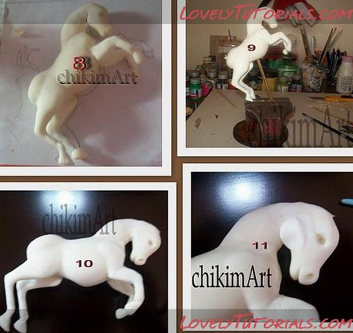 How to make a gumpaste horse