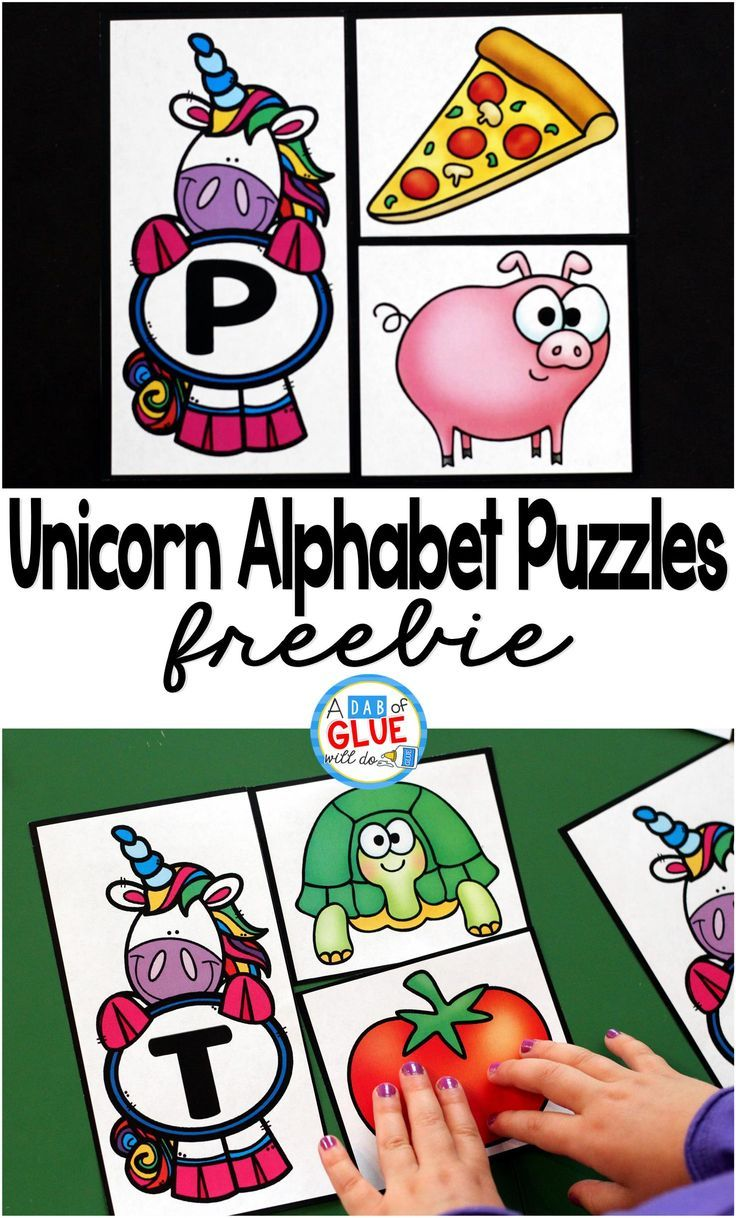 Do you have any unicorn lovers in your classroom or house? These unicorn Alphabet Puzzles will be the perfect way for your preschool and kindergarten students to practice learning the alphabet. This free printable is great for introducing or reviewing the letters.  via @dabofgluewilldo