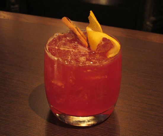 The Pomegranate Spiced gin cocktail from Chambers Eat+Drink manages to ...