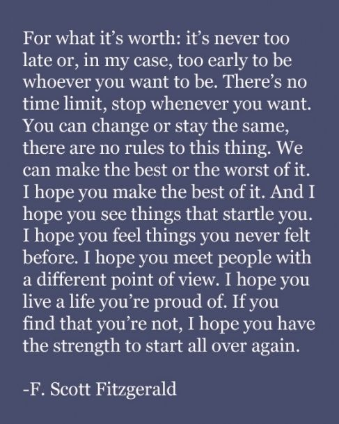 Fitzgerald, one of my biggest inspirations. It saddens me that my generation doesn't read classic novels like his. The great gatsby is literally the most amazing book I've ever read. Sorry I'm a nerd but I'd rather be a nerd than partake in the activities of my fellow teenage peers.
