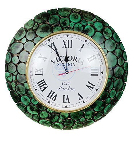 Unique large wall clocks are an easy way to bring life to a boring space. In fact large modern wall clocks are extremely popular right now as not only do they look timeless but also serve as large decorative wall art! Large Algae Green Sliced Logs Premium Wood Crafted Decorative Yet Functional Wall Clock With Matte Velvet Finish | Exclusive Wall Gifts Decor | Nagina International