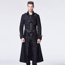 Punk Rave Gothic Black Autumn Winter Long Trench Coat Men Vintage Steampunk Rock Dark Male Killer Warm Overcoats Plus Size Y-594 //Price: $US $119.00 & Up To 18% Cashback //     #steampunk