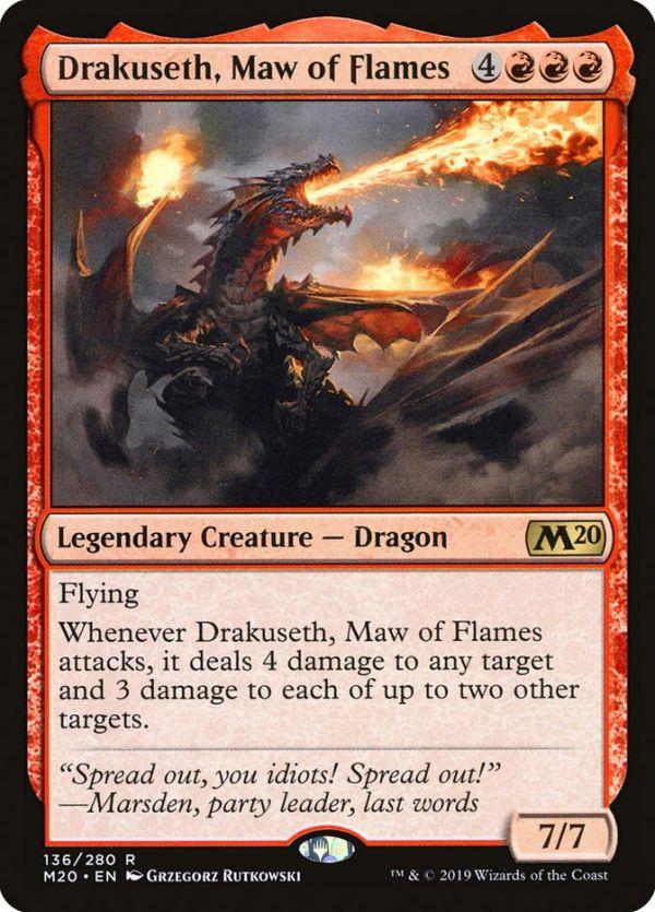 2x Drakuseth Maw of Flames 136//280 Near Mint Magic 2020 Core Set MTG M20