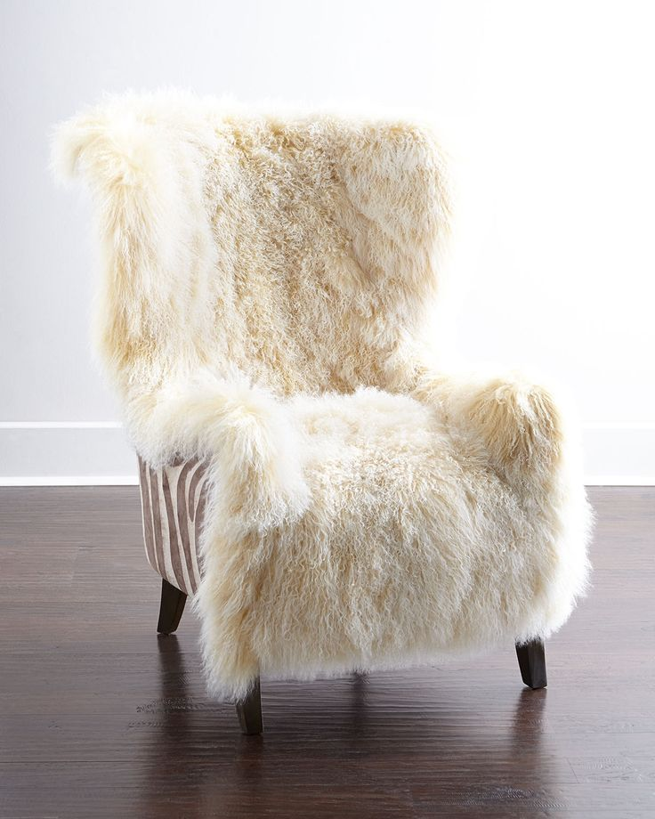Christopher Sheepskin Chair by Massoud at Neiman Marcus. OMG I NEED THIS
