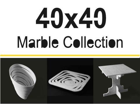 40x40: una collezione ricavata dagli scarti delle piastrelle di marmo
