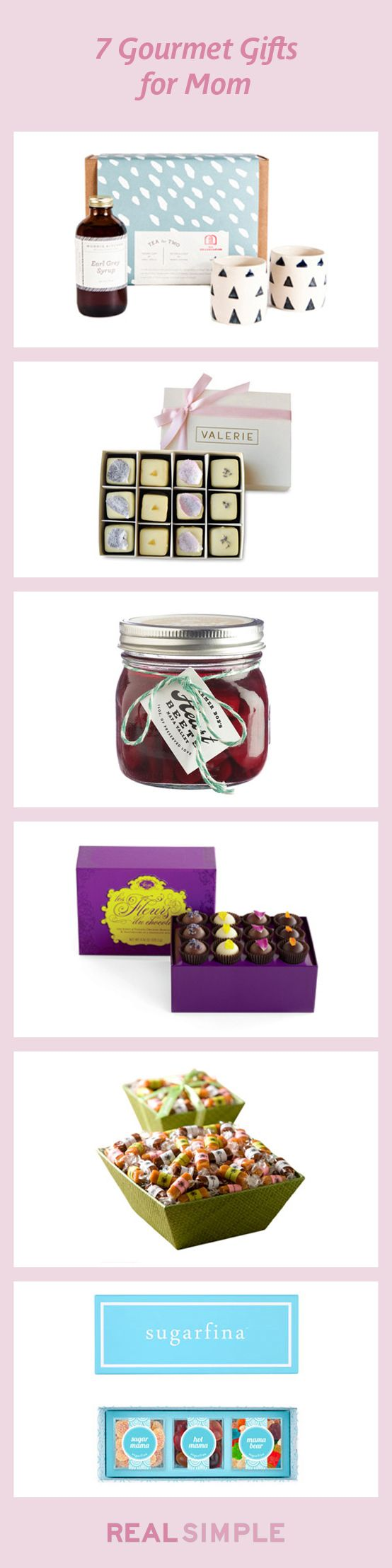 7 Gourmet Gifts For Mom. #mothersday
