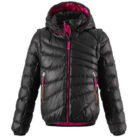 Reima Куртка для девочки Reima  — 4299р. ----------------------- Лёгкий детский пуховик - замечательный выбор для поздней осени и ранней зимы. Этот стильный пуховик тёплый, но лёгкий, а если погода позволяет, куртка легко трансформируется в пуховой жилет - рукава отстёгиваются при помощи молнии. В тёплые осенние дни рекомендуем надевать под жилет уютный вязаный свитер или флисовую кофту. Капюшон тоже отстёгивается - если закреплённый кнопками капюшон зацепится за что-нибудь, он легко…
