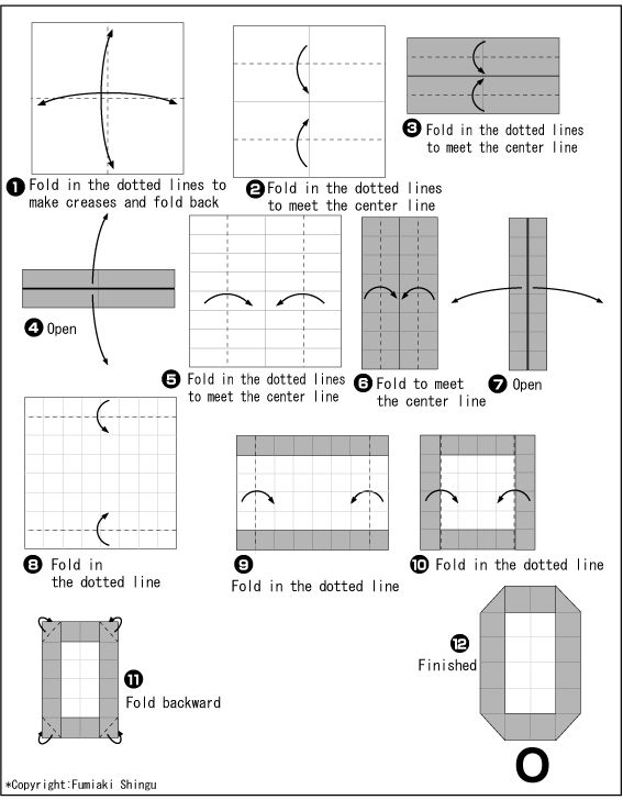 Origami alphabet(O)