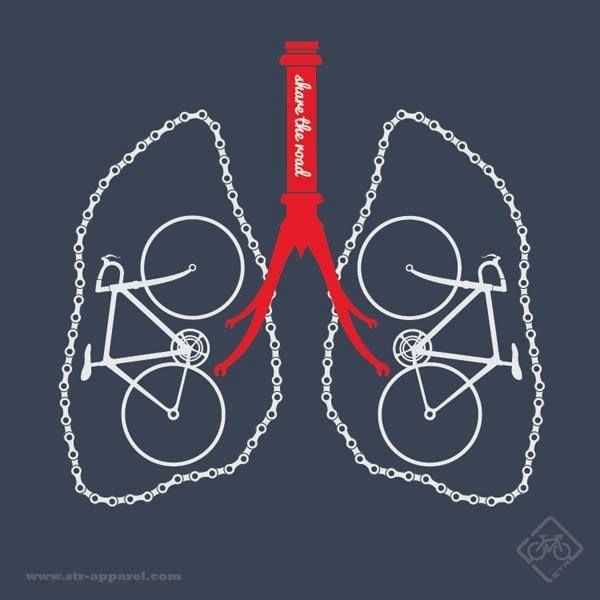 Cycling = breathing!
