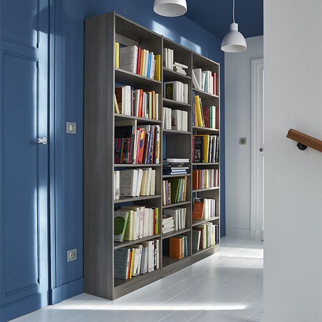 Bibliothèque décor chêne cendré Perkin prix promo Bibliothèque Castorama 400.50 €
