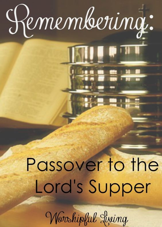 As the Easter season approaches, we remember what Christ has done. Christ did some remembering too. Lets take a look at the Passover and the Lord's Supper