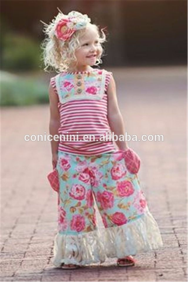 Sweet Girls Boutique Remake Clothes 2017 Summer Outfits Wholesale Children's Boutique Clothing
