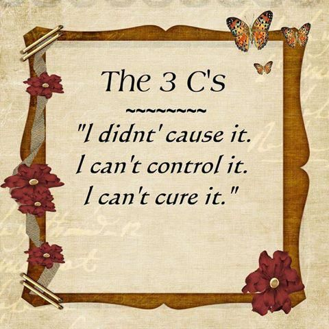 I didn't cause it — I can't control it — I can't cure it...Repeat...