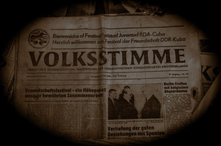 Volksstimme-newapaper from magdeburg.