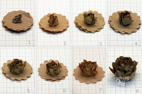 kraft paper-flower