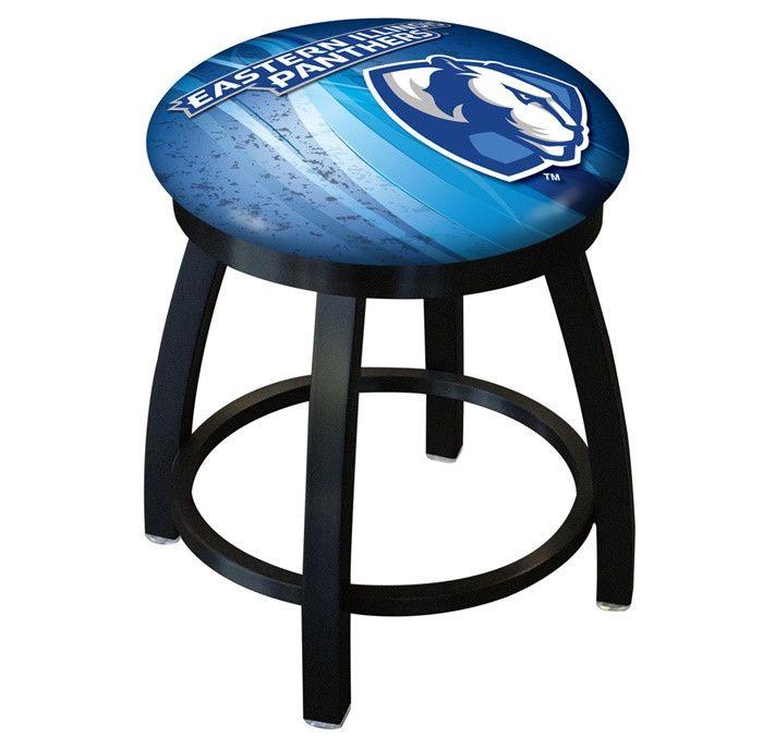 Eastern Illinois Panthers D2 Black Swivel Vanity Stool. Visit SportsFansPlus.com for details.