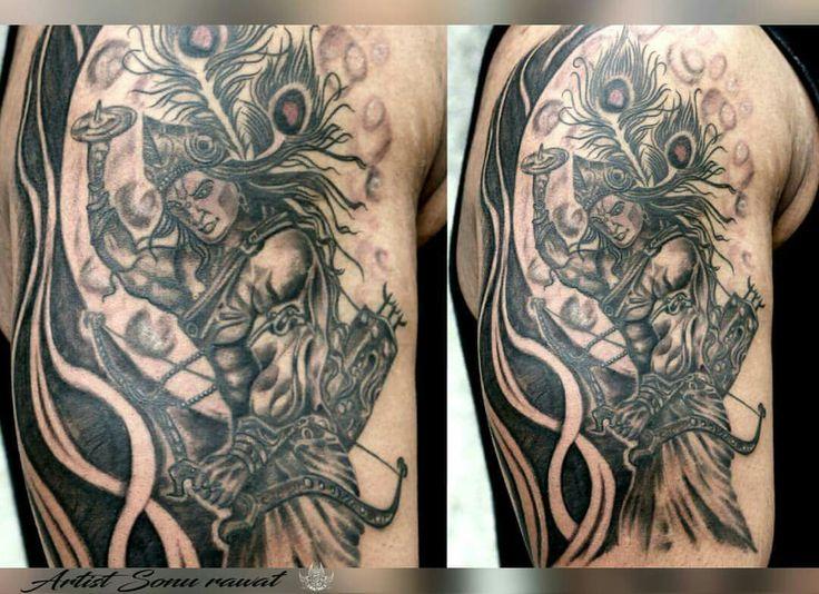 the 12 best tattoo images on pinterest krishna tattoo lord krishna and draw. Black Bedroom Furniture Sets. Home Design Ideas