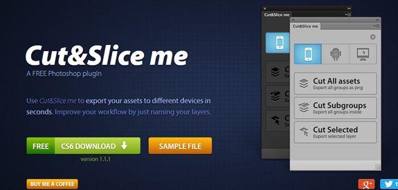 Plugin Photoshop pour trancher document *Cut And Slice Me