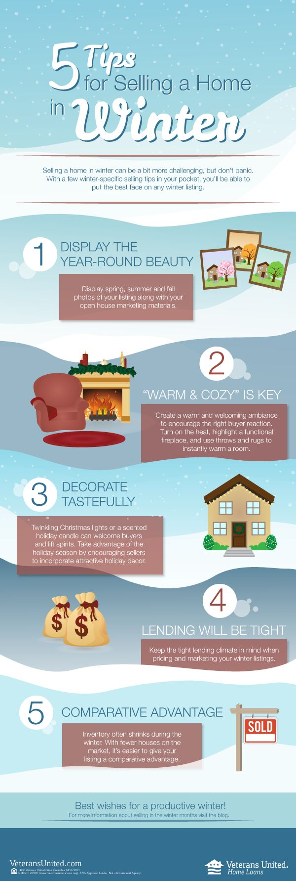 The cold temps don't have to mean a frozen home sale! 4 tips for selling your home in winter.