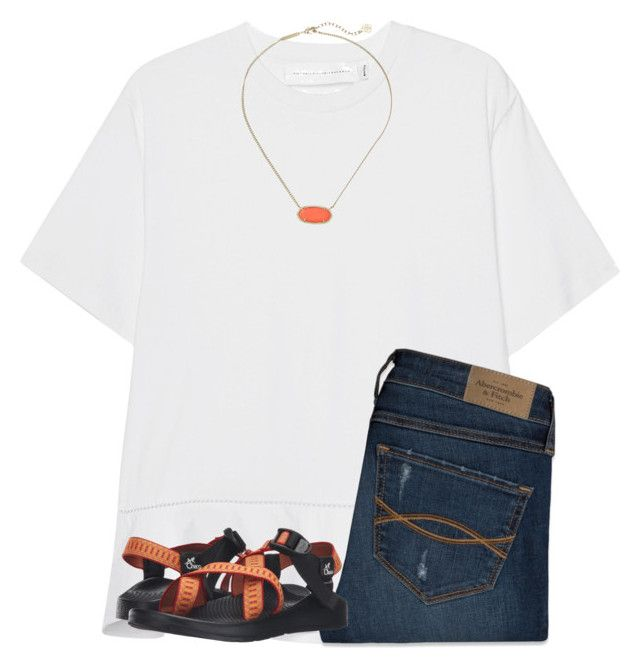"""""""Auburn game today!! war eagle!!"""" by ponyboysgirlfriend ❤ liked on Polyvore featuring Victoria, Victoria Beckham, Kendra Scott, Abercrombie & Fitch and Chaco"""