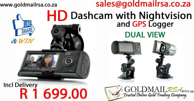 HD Dual Vision GPS Logging DashCam