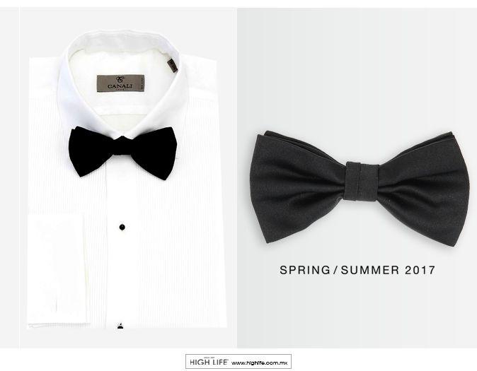 Un moño de seda negro es el accesorio más elegante y sofisticado para todos los atuendos formales. #Canali