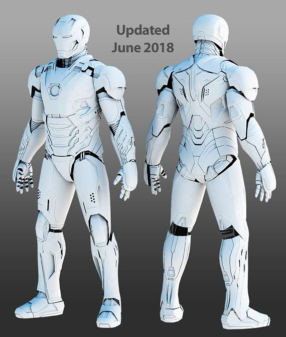 Mark 45 3Dprintable wearable suit 3d druck, Drucken, 3d