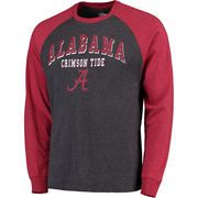 Colosseum Alabama Crimson Tide Heathered Gray Olympus Raglan Long Sleeve T-Shirt