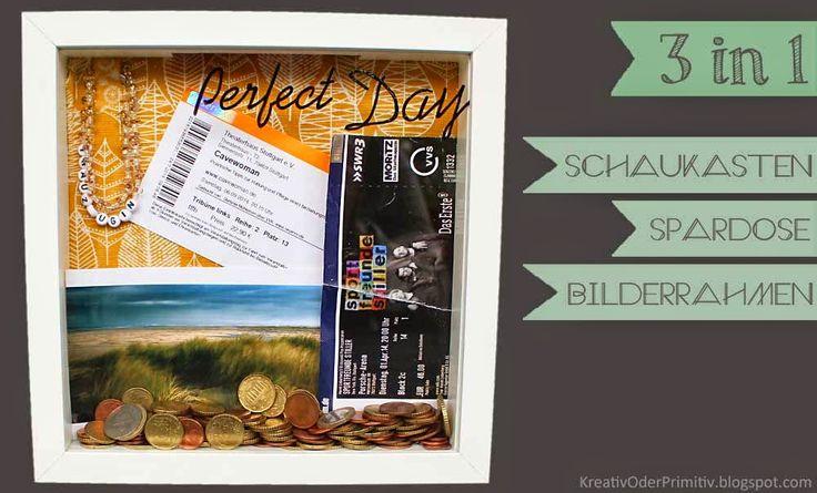 Ikea Ribba: Schaukasten/Spardose/Bilderrahmen