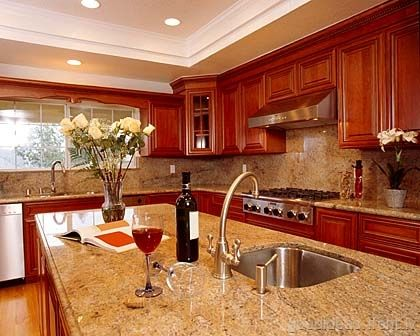 Lighter Granite Countertops But With Chocolate Cabinetry...love! My Dream  Kitchen :