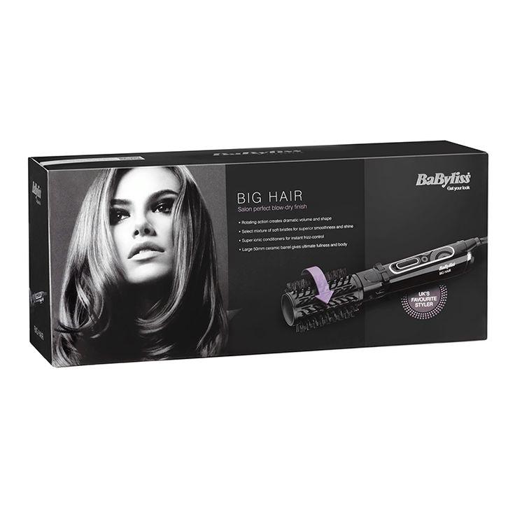 BaByliss Big Hair 50mm Spinning Hot Air Styling Brush 2885U
