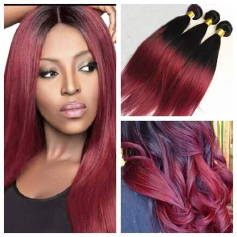 Great burgundy ombre hair