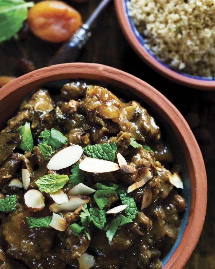Slow-cooked Moroccan lamb tagine - This hearty winter dish by is full of warming spices, making it perfect for those cold rainy days. Made in the slow cooker, you can put it together in the morning and forget about it until the delicious smells tell you its dinnertime.