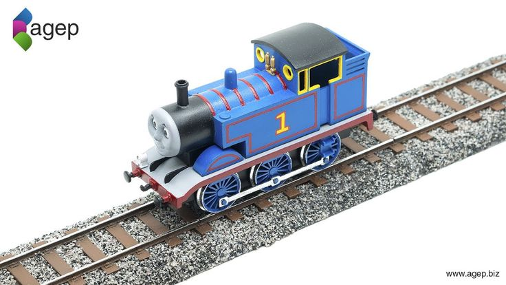 3D Printing and Airbrushing custom Railroad Track for my Thomas the Tank Engine 3D Printed Miniature Model